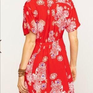Free People Hawaiian Print Dress